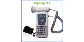 Rechargeable Display Digital Handheld Doppler, 2MHz Waterproof Obstetrical Probe