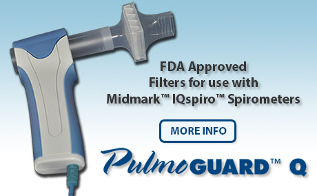 PulmoGuard IQ Filters for MidMark IQ™ Spirometers
